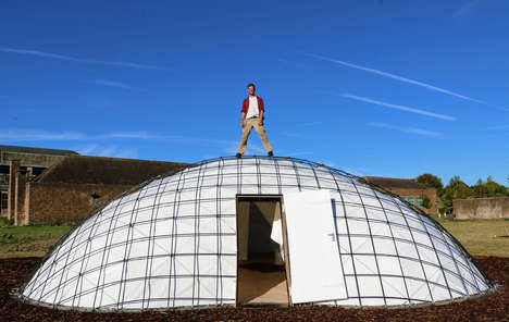 Bio-Containing Gridshell Pods – Gregory Quinn Boasts the SheltAir as a Solution to Isolate Patients (TrendHunter.com)